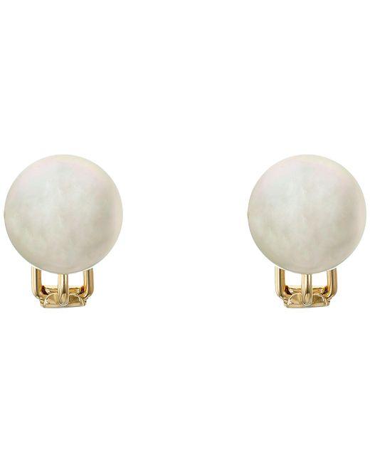 Majorica   White 14mm Stud Earrings   Lyst