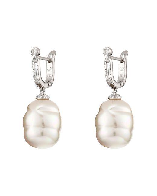 Majorica   White 14mm Baroque Hug Earrings   Lyst
