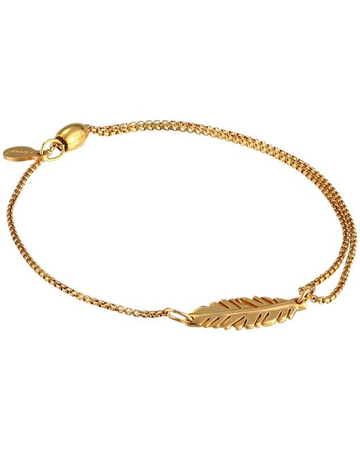 ALEX AND ANI | Metallic Precious Ii Collection Feather Adjustable Bracelet | Lyst