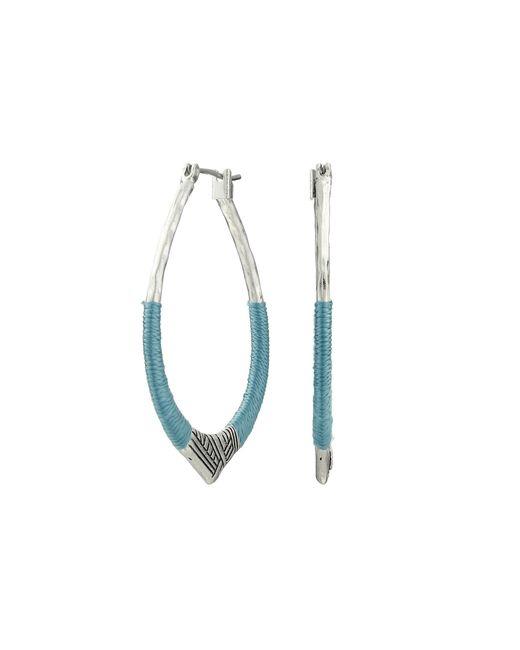 The Sak   Blue Thread Arabesque Hoop Earrings   Lyst