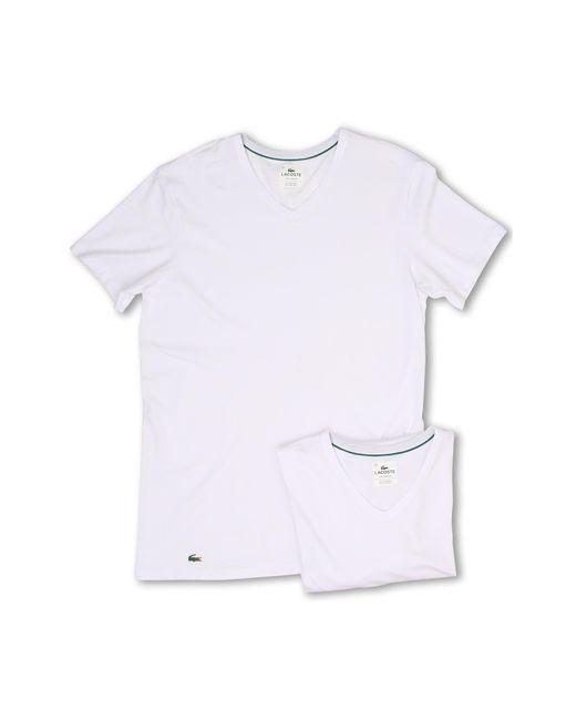 Lacoste | White Colours 2-pack V-neck Tee for Men | Lyst