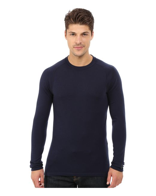 Smartwool   Blue Nts Mid 250 Crew Top for Men   Lyst
