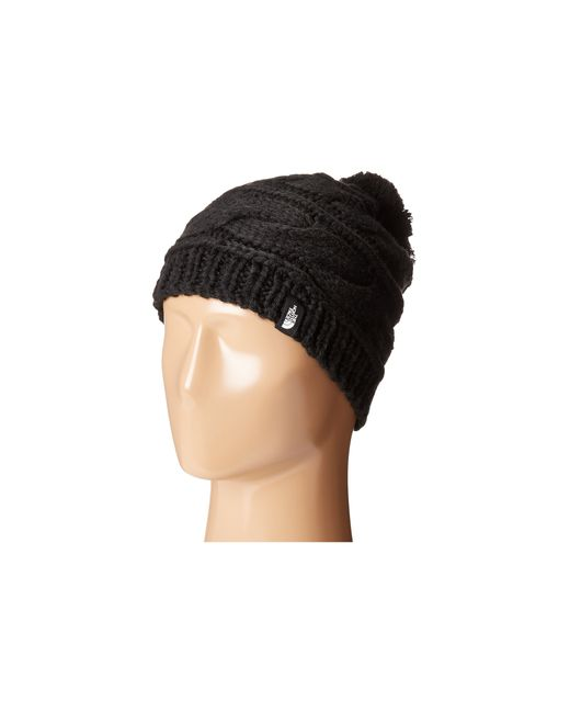 The North Face | Black Triple Cable Pom Beanie | Lyst