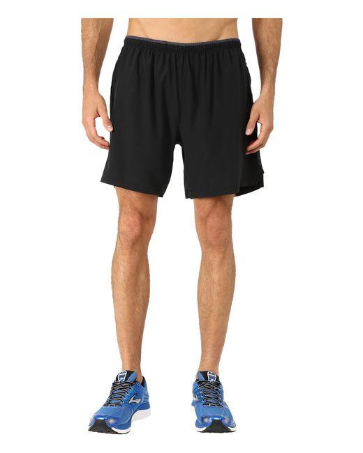 "Brooks | Black Sherpa 7"" 2-in-1 Shorts for Men | Lyst"