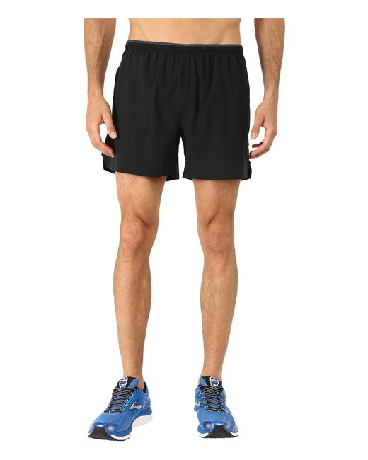 "Brooks | Black Sherpa 5"" Shorts for Men 