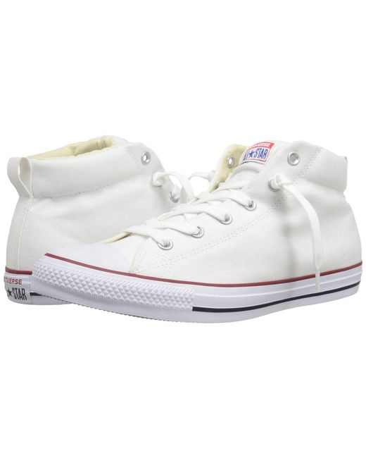 Converse | White Chuck Taylor® All Star® Street Core Canvas Mid | Lyst