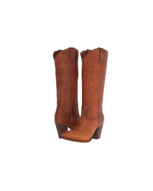 Frye | Brown Ilana Western Boots | Lyst