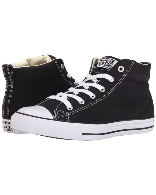 Converse - Black Chuck Taylor® All Star® Street Core Canvas Mid - Lyst
