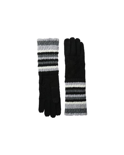 Smartwool   Black Striped Chevron Glove   Lyst