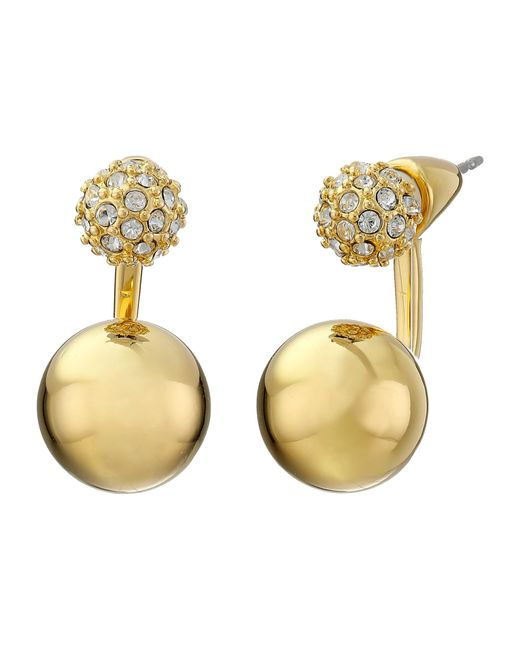 Vince Camuto   Metallic 2 Part Sphere Earrings   Lyst