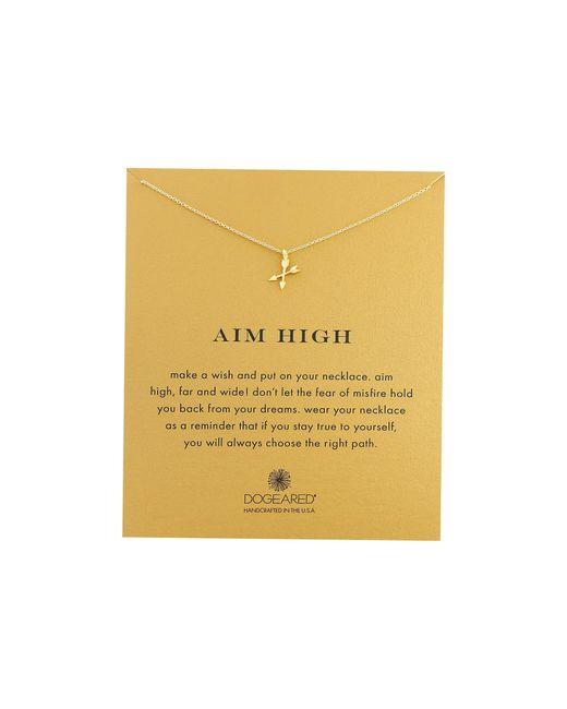 Dogeared | Metallic Aim High Crossing Arrows Necklace | Lyst
