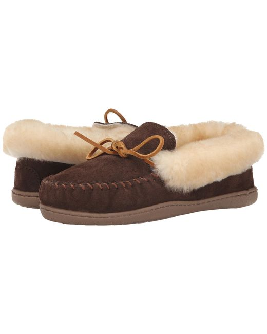 Minnetonka | Brown Alpine Sheepskin Moc | Lyst