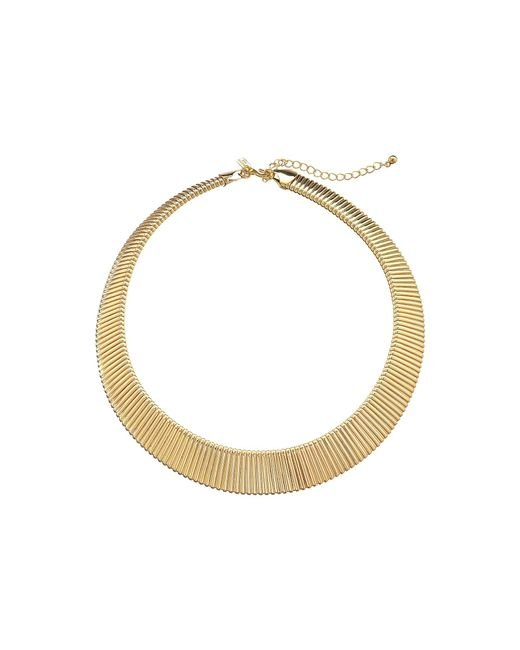 Kenneth Jay Lane   Metallic Stretch Collar Necklace   Lyst