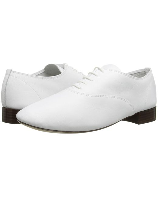 Repetto | White Classic Lace-up Shoes | Lyst