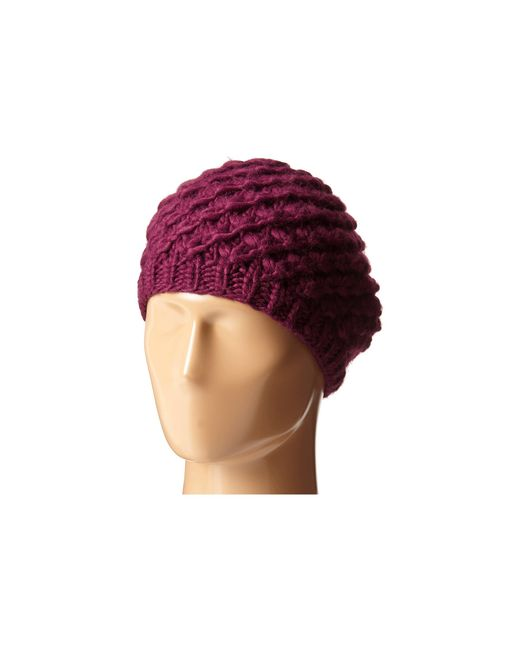 San Diego Hat Company | Purple Knh3366 Chunky Yarn Woven Beret | Lyst