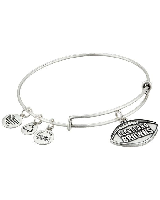 ALEX AND ANI   Metallic Nfl Cleveland Browns Football Bangle   Lyst