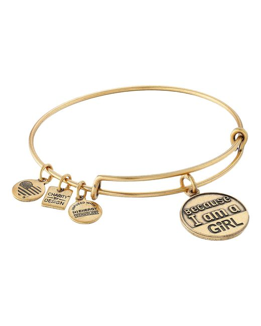 ALEX AND ANI | Metallic Charity By Design Because I Am A Girl Charm Bangle | Lyst