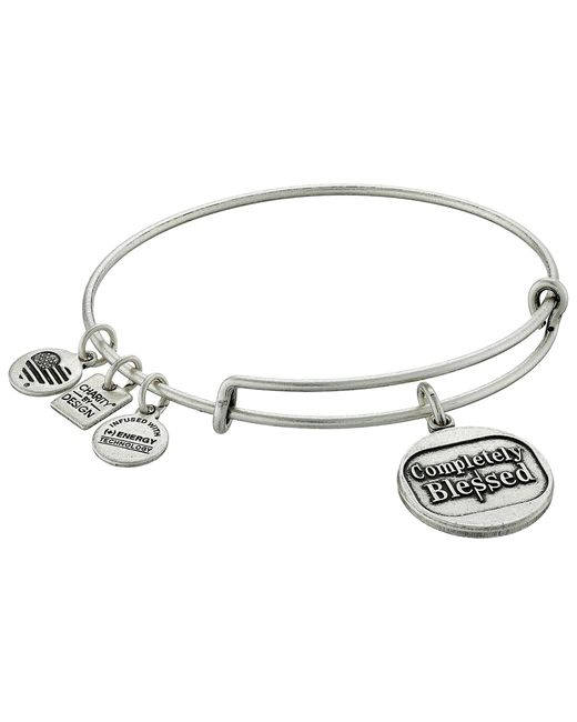 ALEX AND ANI | Metallic Charity By Design Completely Blessed Charm Bangle | Lyst