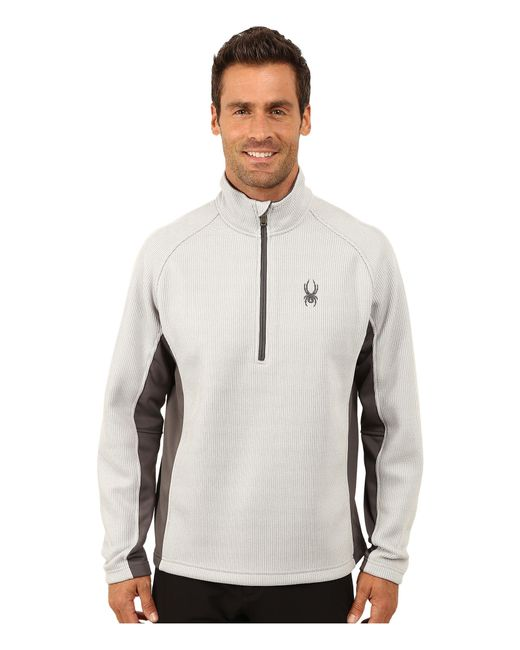 Spyder   Gray Outbound Half Zip Mid Weight Core Sweater for Men   Lyst