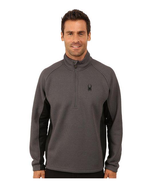 Spyder | Black Outbound Half Zip Mid Weight Core Sweater for Men | Lyst