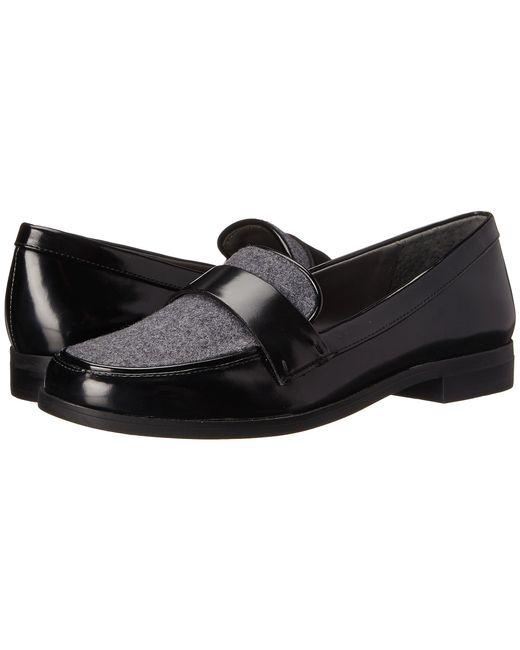Franco Sarto   Black Valera Leatherette Penny Loafers   Lyst