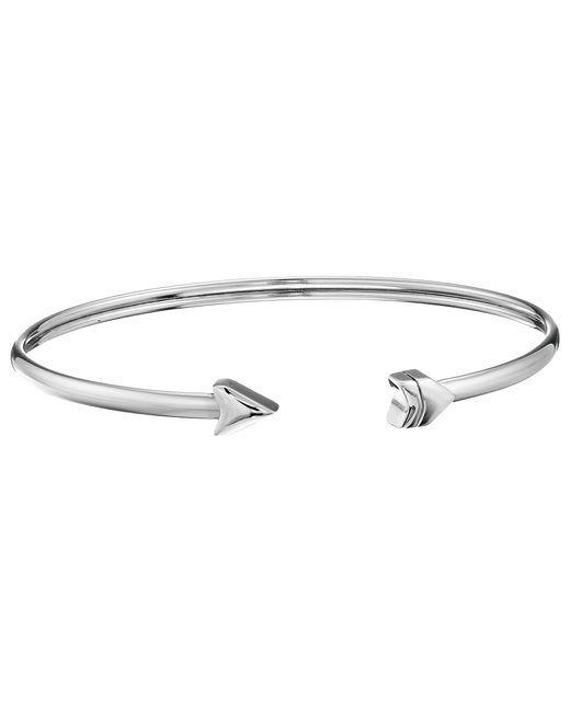 Fossil   Metallic Arrow Flex Cuff Bracelet   Lyst