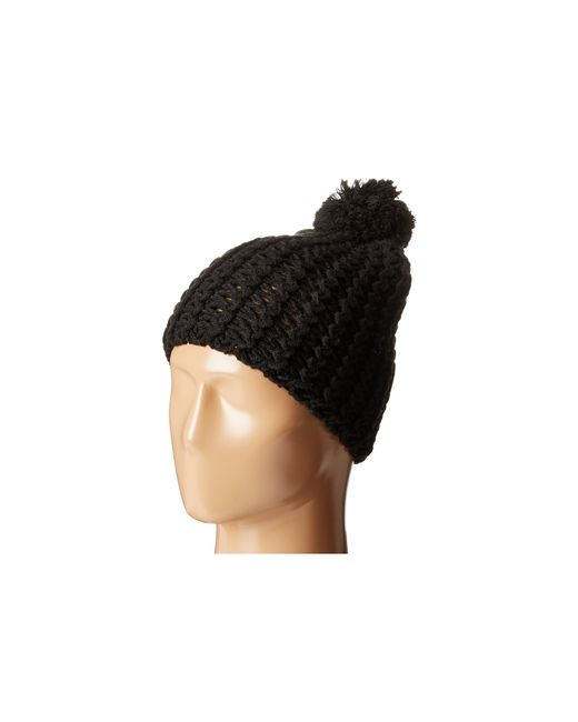 Hat Attack | Black Chevron Knit Skully | Lyst
