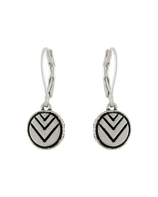 The Sak | Metallic Etched Circle Drop Earrings | Lyst