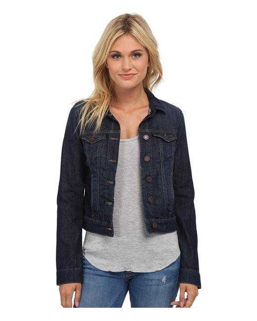 Mavi Jeans | Blue Samantha Denim Jacket In Dark Nolita | Lyst