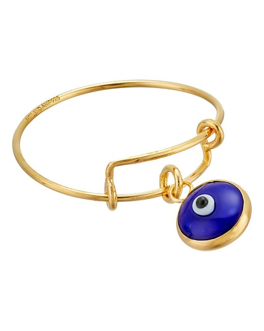 ALEX AND ANI | Blue Evil Eye Expandable Wire Ring | Lyst