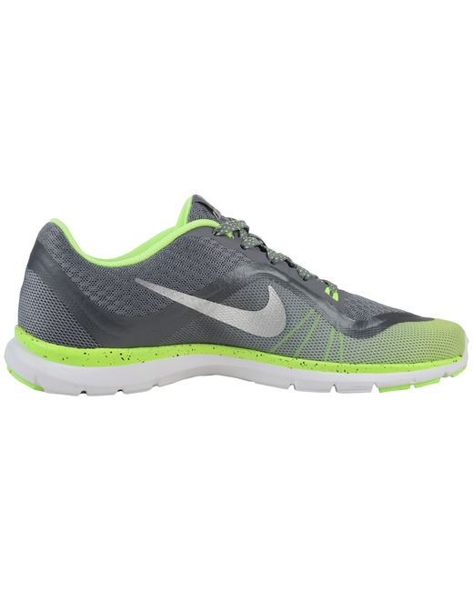 nike flex trainer 6 print in gray cool grey ghost green. Black Bedroom Furniture Sets. Home Design Ideas
