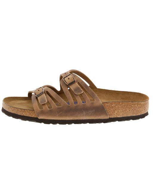 e3d02b7fe40d5 ... Birkenstock - Brown Granada Soft Footbed (tobacco Oiled Leather) Women s  Sandals ...