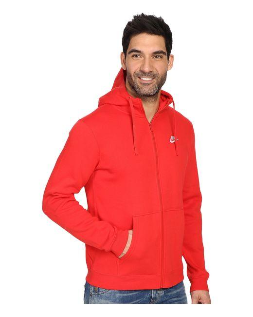 Nike Club Fleece Full Zip Hoodie In Multicolor For Men Lyst