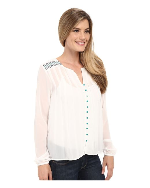 Peasant Blouse White Long Sleeve 52