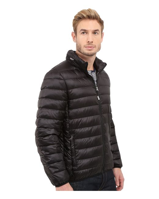 Tumi Patrol Packable Travel Puffer Jacket In Black For Men