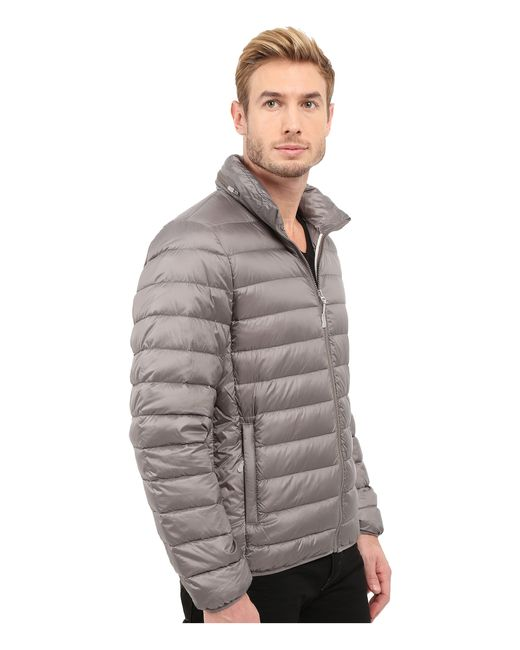 Tumi Patrol Packable Travel Puffer Jacket In Gray For Men