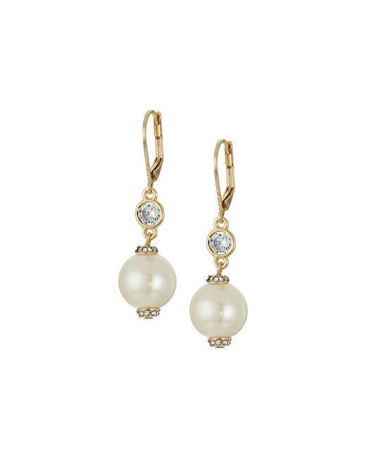 kate spade new york | Metallic Pearls Of Wisdom Leverback Earrings | Lyst