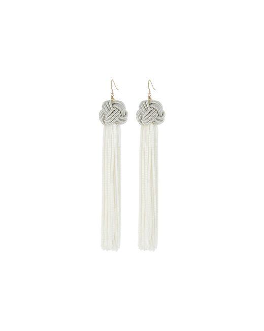 Vanessa Mooney | Metallic Astrid Knotted Tassel Earrings | Lyst