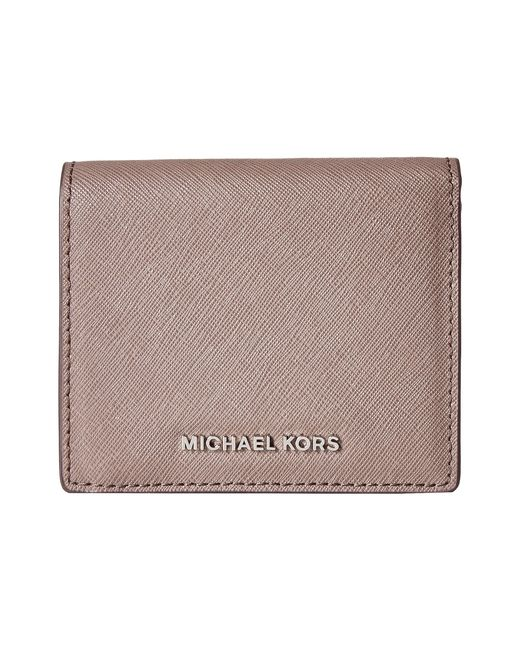MICHAEL Michael Kors | Brown Jet Set Travel Carryall Card Case | Lyst