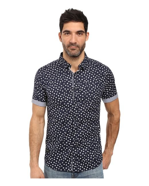 7 Diamonds | Blue Light Years Short Sleeve Shirt for Men | Lyst