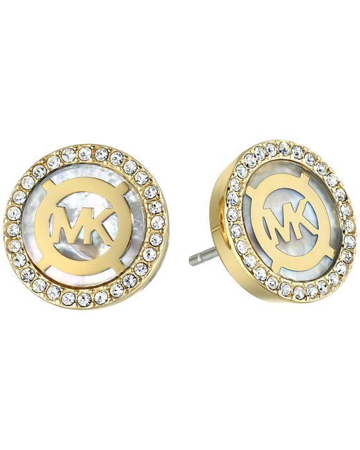 Michael Kors | Metallic Logo Earrings | Lyst