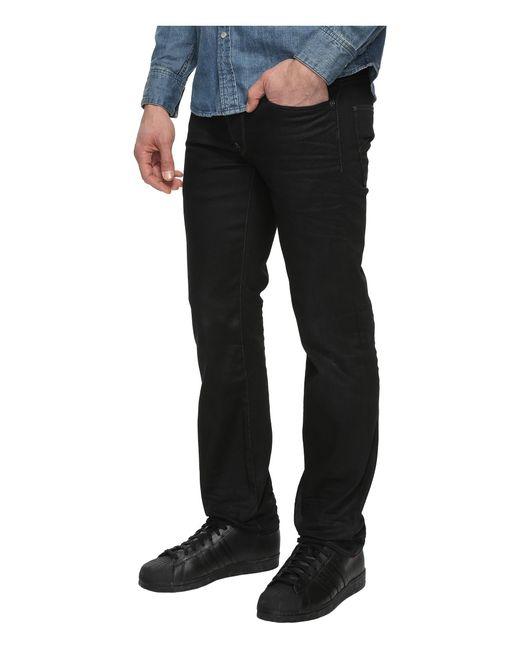 g star raw attacc straight fit jeans in hoist black denim. Black Bedroom Furniture Sets. Home Design Ideas