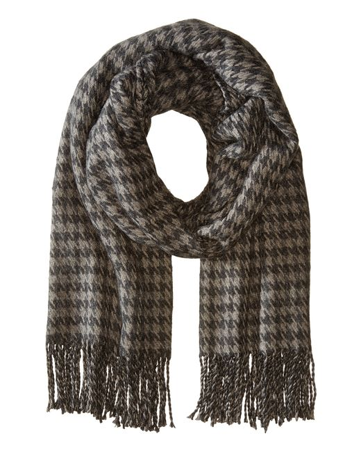 Hat Attack   Gray Houndstooth Blanket Scarf   Lyst