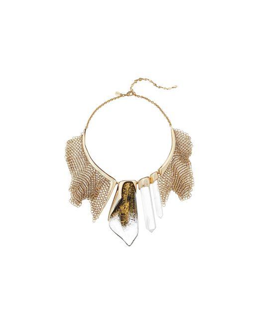 Alexis Bittar   Metallic Faceted Rock Crystal W/ Mesh Bib Necklace   Lyst