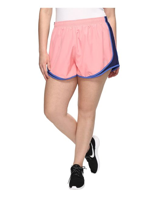 """Nike   Pink Dry Tempo 3"""" Running Short (size 1x-3x)   Lyst"""