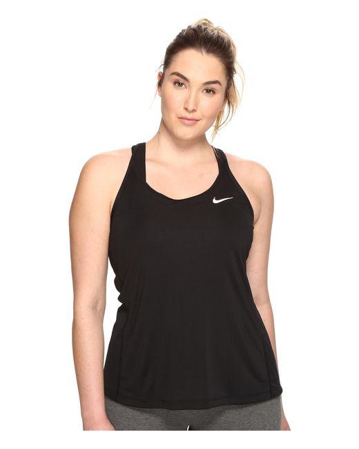 Nike | Black Dry Miler Running Tank (size 1x-3x) | Lyst