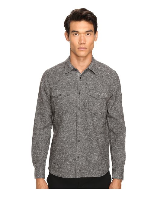 ATM | Gray Donegal Twill Shirt for Men | Lyst