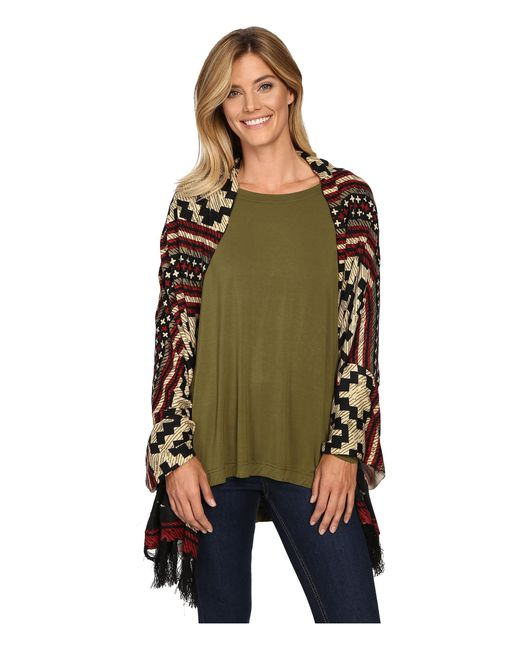 Double D Ranchwear   Green Pampas Plains Wrap/shawl   Lyst