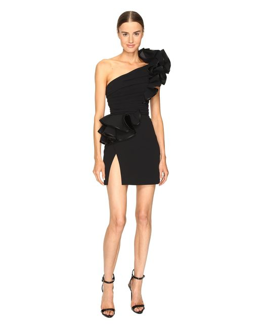 DSquared² | Black Colby One Shoulder High Ruffle Dress | Lyst