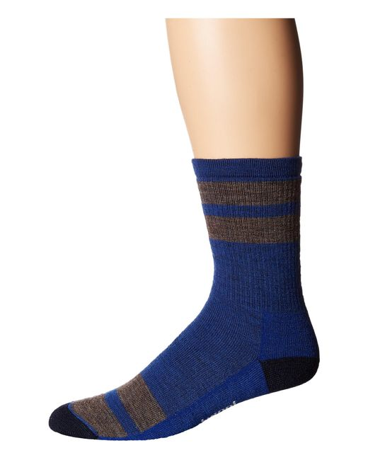 Smartwool | Blue Striped Hike Medium Crew for Men | Lyst
